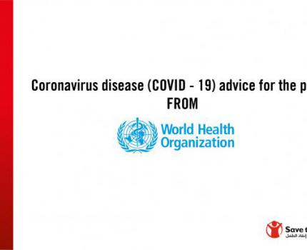 Coronavirus disease (COVID-19) advice for the public